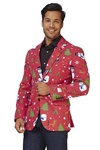 OppoSuits – Chaqueta de traje – Christmaster – con estampados multicolor para Navidad – EU46