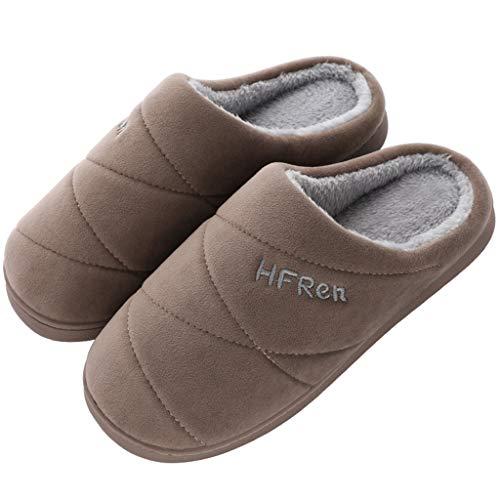 Zapatillas de Estar por casa para Mujer Hombre Invierno Parejas Colores Lisos Calzado Cómodo Antideslizante Zapatillas de casa Zapatos de Interior riou