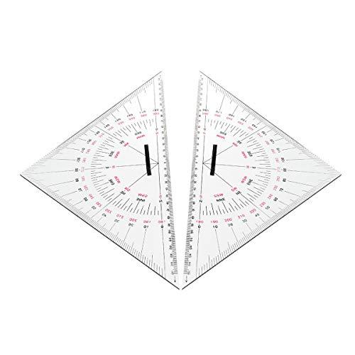 feilai Lab & Scientific Supplies Dreieckige Winkelmesser, 300 mm, Acryl, Hypotenuse, nautische Quadrate