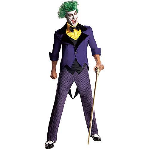Rubie's Men's Dc Super Villains Adult Joker, Yellow/Purple, Large