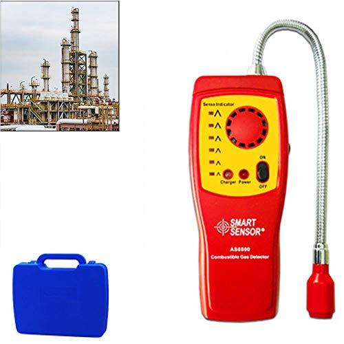 CROWNXZQ Erdgas-Propan-Detektor Schnüffler für Explosive brennbare Gase, tragbarer Leckanzeiger für brennbare Gase für Methan, Erdgas, Benzin, Ethanol, Alkohol