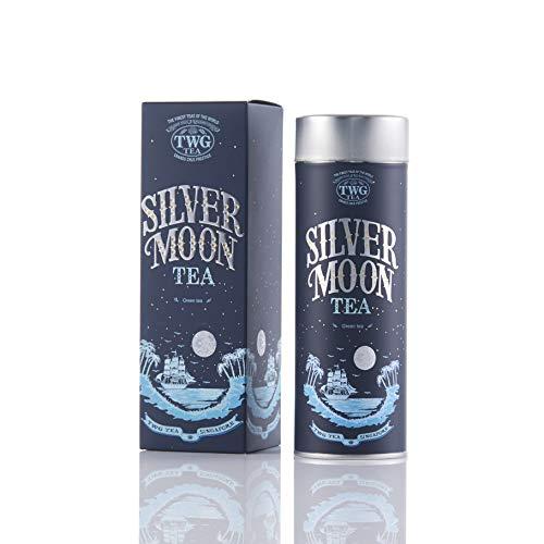 TWG Tea Silver Moon lose Blatt Grüntee in Haute Couture Geschenkteedose, Waldbeere, 100 gramm