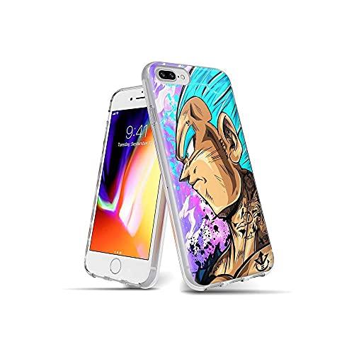 SAdNTagN iPhone 7 Plus Funda, iPhone 8 Plus Funda Ultra Slim Cárcasa Silicona Transparente con Dibujos Diseño Patrón Bumper Case Cover para iPhone 7 Plus/iPhone 8 Plus Tag #A007