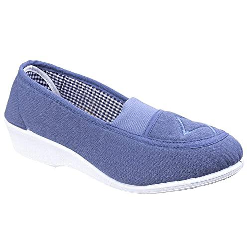 Mirak Malt - Chaussures en Toile - Femme (41 EUR) (Bleu Marine)