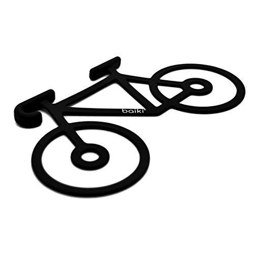 baiki Fahrrad Halterung für Handy/Jacke/Werkzeug, Silikon, Stark, Flexibel, Schwarz