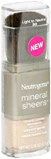 Neutrogena Mineral Sheers Mineral Powder Foundation, Light to Neutral 30, 0.18 Ounce (5.1 g) (Pack of 2)