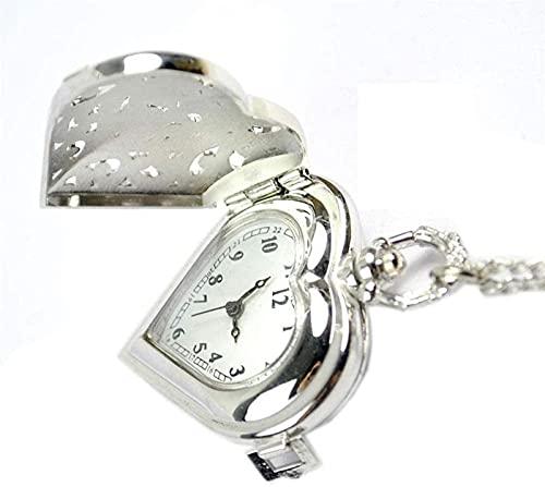 ETRVBSWE Vintage Style Hohl Silber Taschenuhr Männer und Frauen Kreative Gravur Einfache Arbeits Taschenuhr