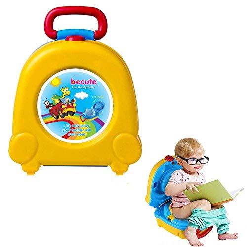 Szl Viaggio Vasino per Viaggio Vacanze Car & Camping Vasino Portatile da Allenamento Sedile per Orinatoio per Bambini Ragazze e Ragazzi (Giallo)