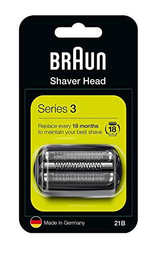 Braun Ersatzteil für Rasierer 21B kompatibel mit den Rasierer Serien 3schwarz