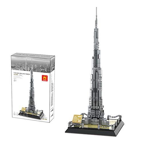Leic Architektur Burj Khalifa Modell 580 STK. MOC DIY Weltberühmte Street View-Bausteine Modellspielzeug für Architektur-Set Mit Lego 21031 kompatibel