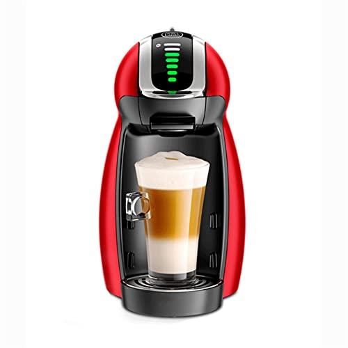 HMBB 4-IN-1 Máquina de café espresso multifunción compatible,máquina automática Capsule Coffee Machine Mini Capsule Capsule Juego de café Italiano 15 bar Bomba de alta presión (Color : Red)