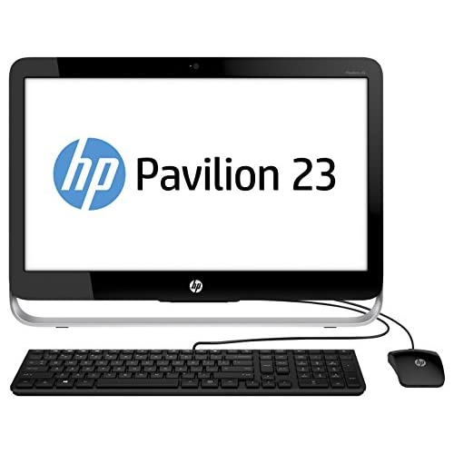 HP Pavilion 23-g101nl All-in-One PC, Processore Intel i3 Core, Memoria 4 GB, HDD SATA da 1 TB, Nero/Argento