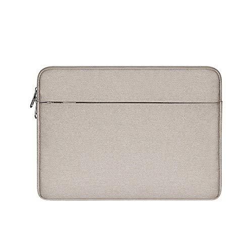 Waterproof Laptop Sleeve 13 14 15 15.6 inch Notebook Bag Cover Computer Case for MacBook Air Pro Women Men-Beige_14-inch