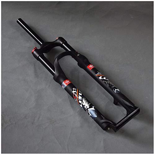 HWL Horquilla de Suspensión 26 Pulgadas, Aluminio Ciclismo MTB Bicicleta Montaña Competencia XC Am Control Remoto 1-1/8' Viaje 120 mm (Color : B, Size : 26 Inch)