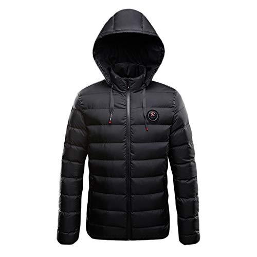 LIMITA Herren Casual Winter Warm Daunenjacke Einfarbig Reißverschluss Lange Ärmel Kapuzenjacke Mantel Outwear Tops Herren Slim Fit Kapuzenjacke