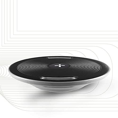SportPlus Tabla de Equilibrio con Asas – Plataforma de Entrenamiento de 40 cm de Diámetro – Perfecta para Entrenamiento de Fuerza, Coordinación y Equilibrio