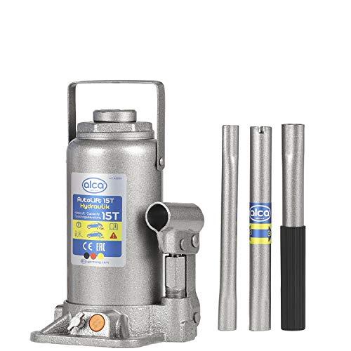 alca® Unterstellheber hydraulischer Wagenheber 15t Stempel-Wagenheber für SUV/PKW Hubhöhe 22,5-42,5cm