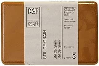 R&F Handmade Paints 113K encaustic Paint Cake, 104ml, Stil de Grain