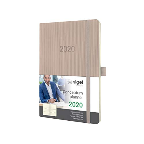 SIGEL C2030 Wochenkalender 2020, ca. A5, cremefarben, Softcover Conceptum - weitere Modelle