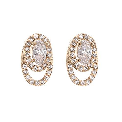 Pendientes geométricos Pendientes de diamantes sencillos y versátiles Pendientes femeninos de estilo europeo y americano A