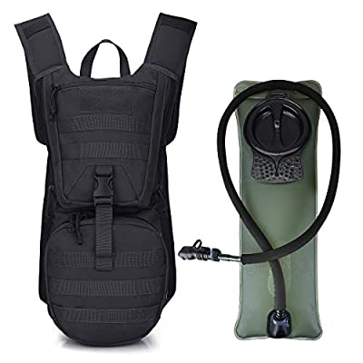 G4Free Tactical Hydration Packs Helmet Water Backpacks with 3L BPA Free Bladder Kids Adults for Hiking, Cycling, Running, Skiing, Walking and Climbing(Black)