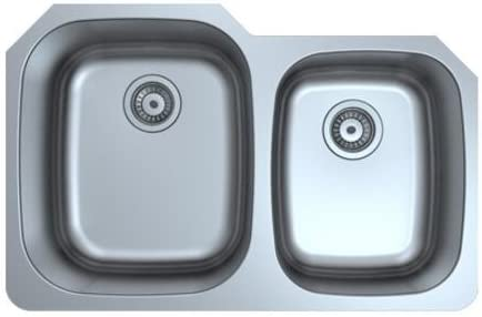 32 undermount stainless steel kitchen sink 32 X 29 X 9 double bowl 60 40 18 Gauge product image