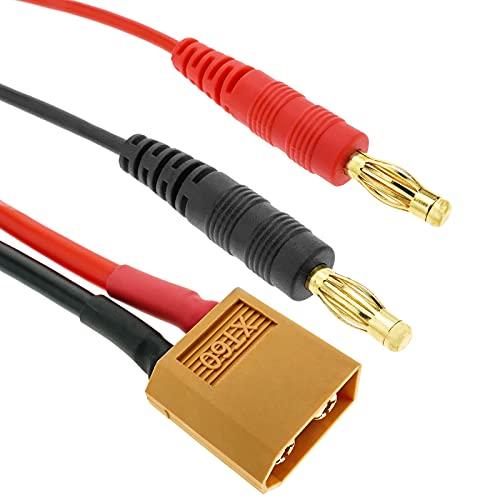 BeMatik - Cable XT60 Macho a HXT Banana 4.0mm Macho de 30cm...