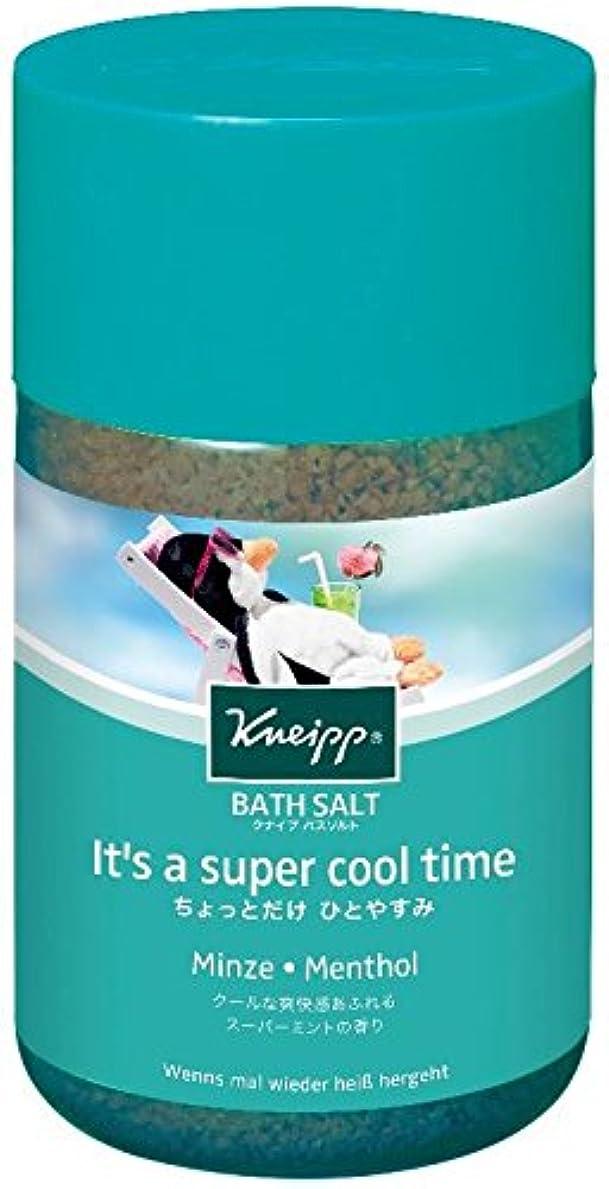 不器用話ライブクナイプ バスソルト スーパーミントの香り 850g