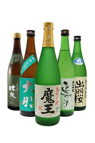 〔セット商品〕魔王720ml + 厳選日本酒(醴泉、大那、正雪、出羽桜)720ml×4本セット