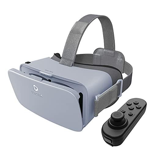 Virtual Reality 3D Brille für Handy, VR Headset Smartphone,110°FOV, Mit Bluetooth-Fernbedienung für iPhone Xiaomi Huawei Samsung