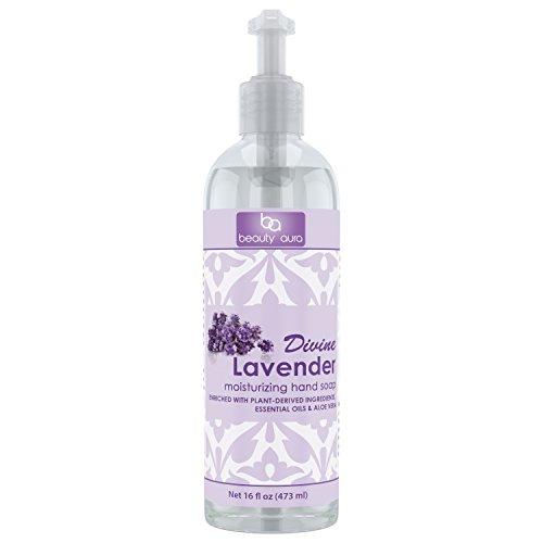 Beauty Aura Moisturizing Hand Soap 16 Oz (Divine Lavender)