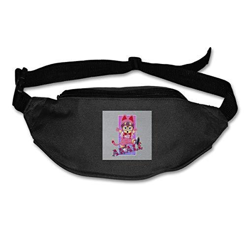 HKUTKUFGU Riñonera para mujeres y hombres Arale Norimaki Cat Maglia Dr Slump Stars Riñonera Bolsa de viaje Billetera Riñonera para correr, ciclismo, senderismo y entrenamiento