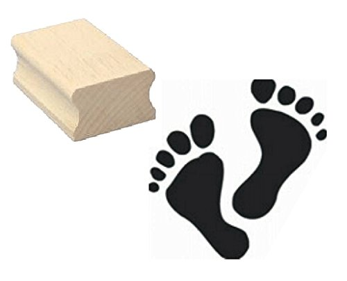 Stempel Füße/Fußspuren - Motivstempel aus Buchenholz