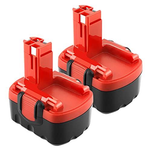 Advtronics 2 Pcs 14.4V 3.5Ah Ni-MH BAT040 Batería para Bosch 2607335275 2607335533 2607335534 2607335711 2607335465 2607335685 2607335678 2607335276 BAT038 BAT040 BAT041 BAT140 BAT159 13614