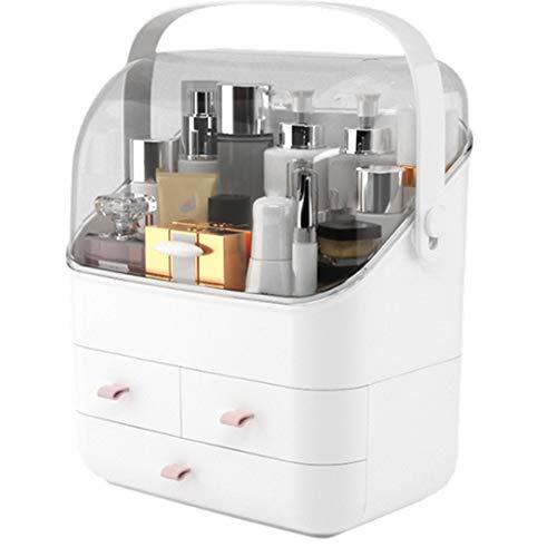 Organizador del Maquillaje, Multifunción para Maquillaje, con 3 Cajones, para Cómoda, Dormitorio, Brocha de Maquillaje, Lápiz Labial y Más