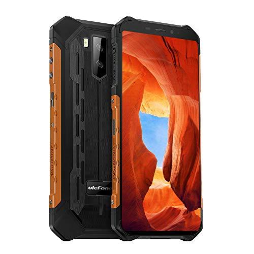 4G Rugged Phones Unlocked Ulefone Armor X5, IP68 Waterproof Rugged Smartphones Unlocked Android 9.0 32GB+3GB, 5.5''FHD,13MP+5MP Camera, Shockproof, 5000Mah Battery Dual SIM, Face ID Compass GPS Orange