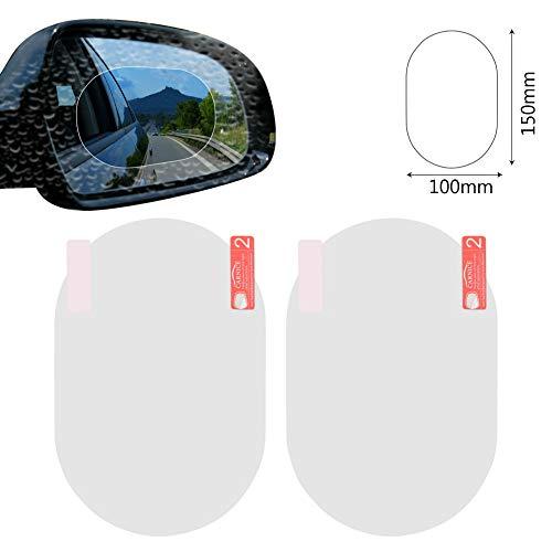 iTimo 2 Teile/Satz Auto Anti Fog Membran, Auto Seitenfenster und Rückspiegel Aufkleber für Blendschutz Regendicht, Automobil Fenster Klar Vision Film, Auto Care
