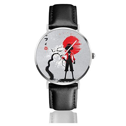 Unisex Business Casual One Piece Japanische Stil Uhren Quarz Leder Uhr mit schwarzem Lederband für Männer Frauen Young Collection Geschenk