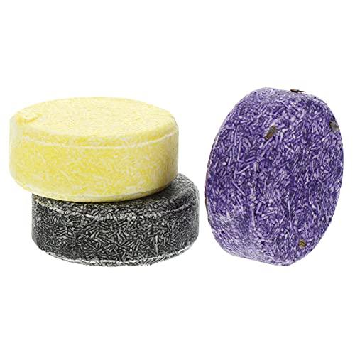 HEALLILY 3 Piezas de Jabón de Champú de Aceite Esencial para El Cabello Jabón Natural de Limpieza Profunda Jabón Redondo para El Cuidado del Cabello Jabón