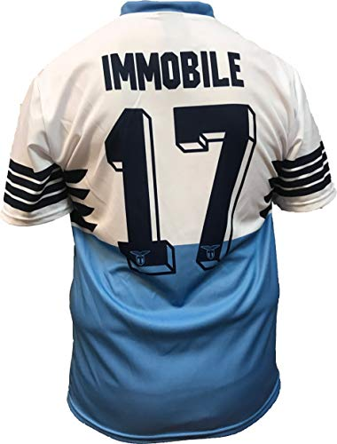 Camiseta Jersey Futbol S.S. Lazio Ciro Immobile Replica Oficial Autorizado 2018-2019 Niños (2,4,6,8,10,12 año) Adultos (Small, Medium, Large, Xlarge)