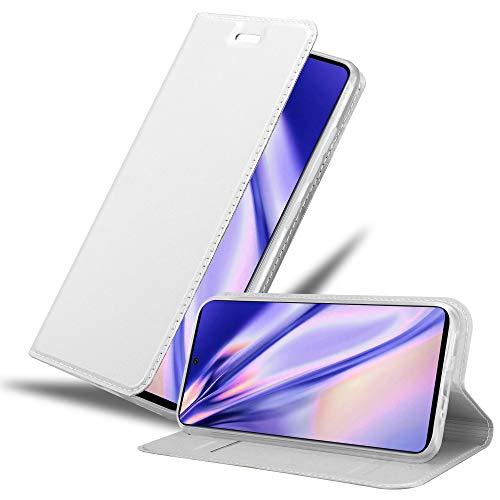 Cadorabo Funda Libro para Samsung Galaxy A71 en Classy Plateado - Cubierta Proteccíon con Cierre Magnético, Tarjetero y Función de Suporte - Etui Case Cover Carcasa