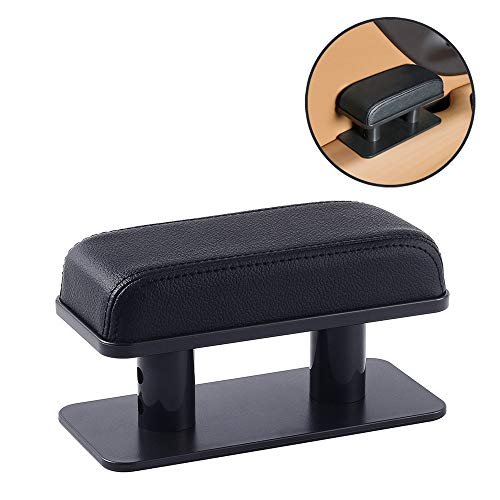 ATMOMO Adjustable Height Car Armrest Left Elbow Support Pad Anti-Fatigue Car Door Armrest Rest Pad (Black)