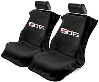 Seat Armour -Black Towel Seat Covers for Corvette Z06 -Pair