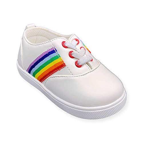 Wee Squeak Toddler Squeaky Tennis Shoes Rainbow Size 5