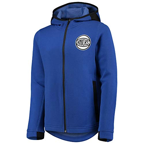 Outerstuff NBA Youth 8-20 Performance Showtime Performance Full-Zip Hoodie (Youth - X-Large, New York Knicks Blue) image