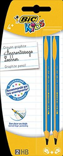 BIC Dreikant-Bleistift BIC® KIDS EVOLUTION, HB, 2-fach sortiert, Blister à 2 Stück