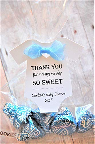 10 tags ~ THANK YOU for making my day SO SWEET ~ Baby Onesie Gift Tags ~ Baby Shower Party Favor ~ TAG ONLY ~ 2 1/2'