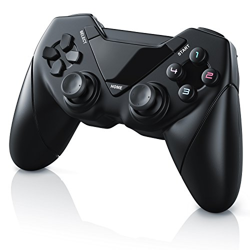 CSL - Wireless Gamepad für PC und Android - Controller mit Dual Vibration - Plug and Play - Direct Input X-Input - Gaming Joypad