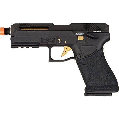 Valken AVP17 Airsoft Pistol - Gas Blowback Metal-6 mm - Black