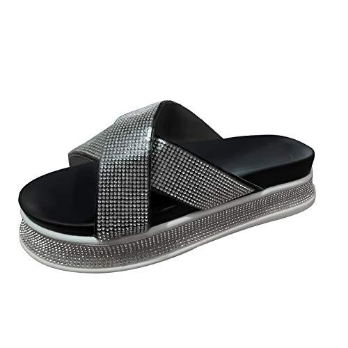 Eaylis Damen Diamant Sandalen Sommer New Leisure Fashion Schuhe, Frauen Sandalen Offene Schuhe Flip Flops Freizeit Sommerschuhe